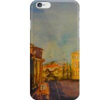 Streetscape Lancefield (watercolour) Victoria Australia iPhone Case/Skin