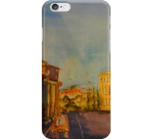 Streetscape Lancefield (watercolour) Victoria Australia iPhone Case/Skin