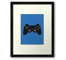 DualShock 2 Controller Black Framed Print