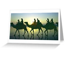 Camel train - Cable Beach, Broome WA Greeting Card