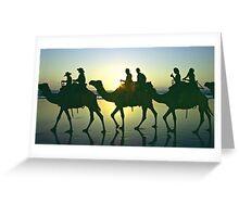 Camel train - Cable Beach, Broome WA Greeting Card