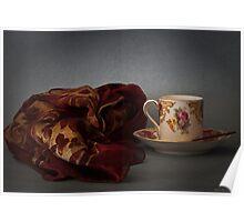 Tazzina con foulard Poster