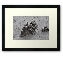 pluff mud and driftwood  Framed Print
