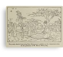 Kate Greenaway Collection 1905 0557 Humorous Artist Hopes Canvas Print