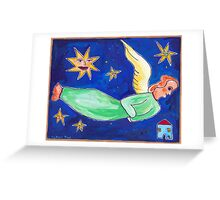 fair-haired angel of the evening Greeting Card