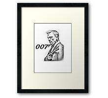 James Bond Daniel Craig 007 Framed Print