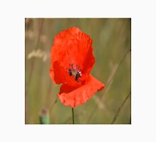 Red Poppy in the field Unisex T-Shirt