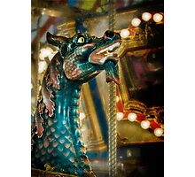 Colorful carousel dragon Photographic Print