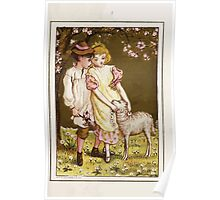 Flowers & Fancies Valentines Ancient & Modern Montgomerie Ranking art Kate Greenaway 1882 0023 Lamb and Garland Poster