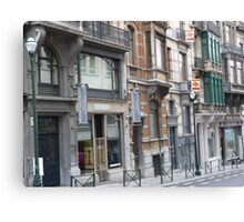 Typical houses  Canvas Print