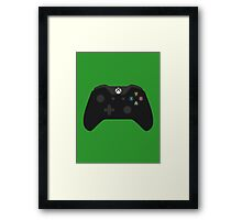 Xbox One Controller Black Framed Print