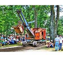 Steam Shovel Photographic Print
