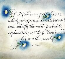Encouraging handwritten CS Lewis quote  by Melissa Goza