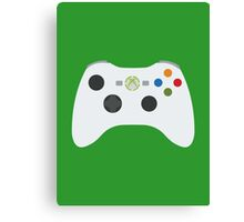Xbox 360 Controller White Canvas Print