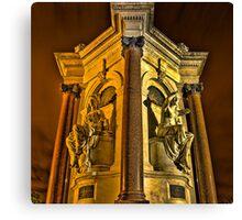Queen Victoria Statues at Night Canvas Print
