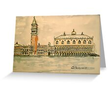 St Mark's Venice, Italy. 2010 Pen and wash.  Greeting Card