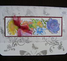 Stamped and coloured pastel card by Gortsmum