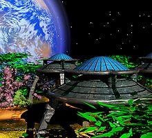 Alien Green Garden by Junior Mclean