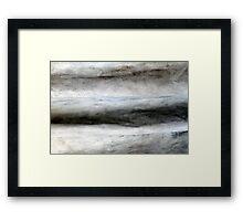 Cement Wrinkles Framed Print