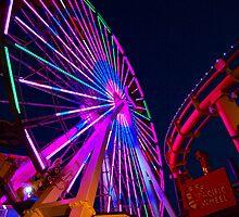 Pacific Park Ferris Wheel, Santa Monica Pier, Ca. by Stephen Burke