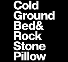 Bed Rock & Stone Pillow Ampersand Helvetica Bob Marley Reggae by juk3box