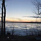 Sun setting over Porcupine Lake by Chickapeek