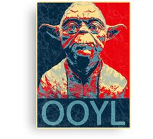 Star Wars Inspired - YODA - Only Once You Live - YOLO - Pop Art Yoda - Sheppard Fairey-Style Canvas Print
