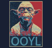 Star Wars Inspired - YODA - Only Once You Live - YOLO - Pop Art Yoda - Sheppard Fairey-Style by traciv