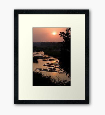 Sunrise Over Sabi River Framed Print
