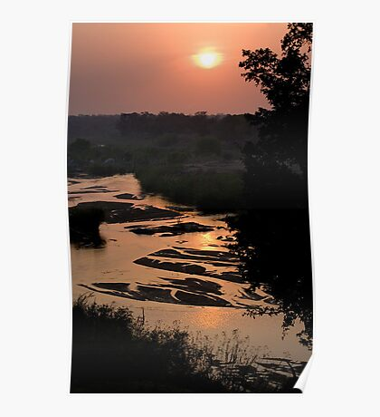 Sunrise Over Sabi River Poster