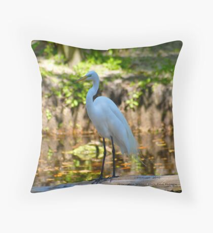 Great White Beauty of Homosassa Springs State Park Throw Pillow