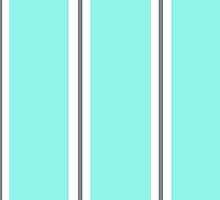 Turquoise and Grey Stripes by Melissa Park