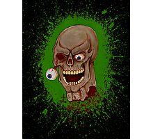 Toxic Zombie Splatter Photographic Print