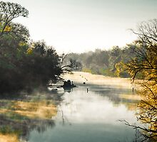 Saluda River Fall Morning by KPalmer