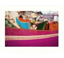 Fragments of Richness: An Indian Expose - vibrancy (saris) Art Print