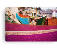 Fragments of Richness: An Indian Expose - vibrancy (saris) Canvas Print
