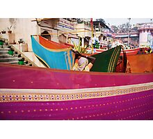 Fragments of Richness: An Indian Expose - vibrancy (saris) Photographic Print