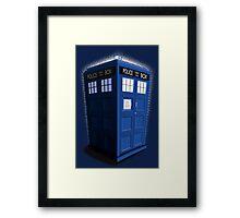 Blue Box Toon Framed Print