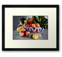 All Things Healthy Framed Print