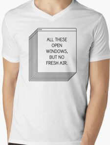 All These Open Windows But No Fresh Air T-Shirt Mens V-Neck T-Shirt