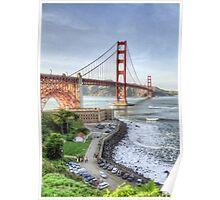 Golden Gate Bridge as Seen from Fort Point Overlook Poster