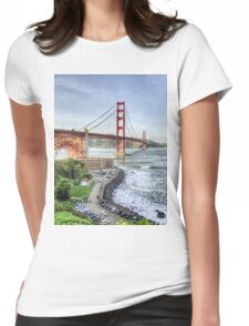 Overlooking the Golden Gate Womens Fitted T-Shirt