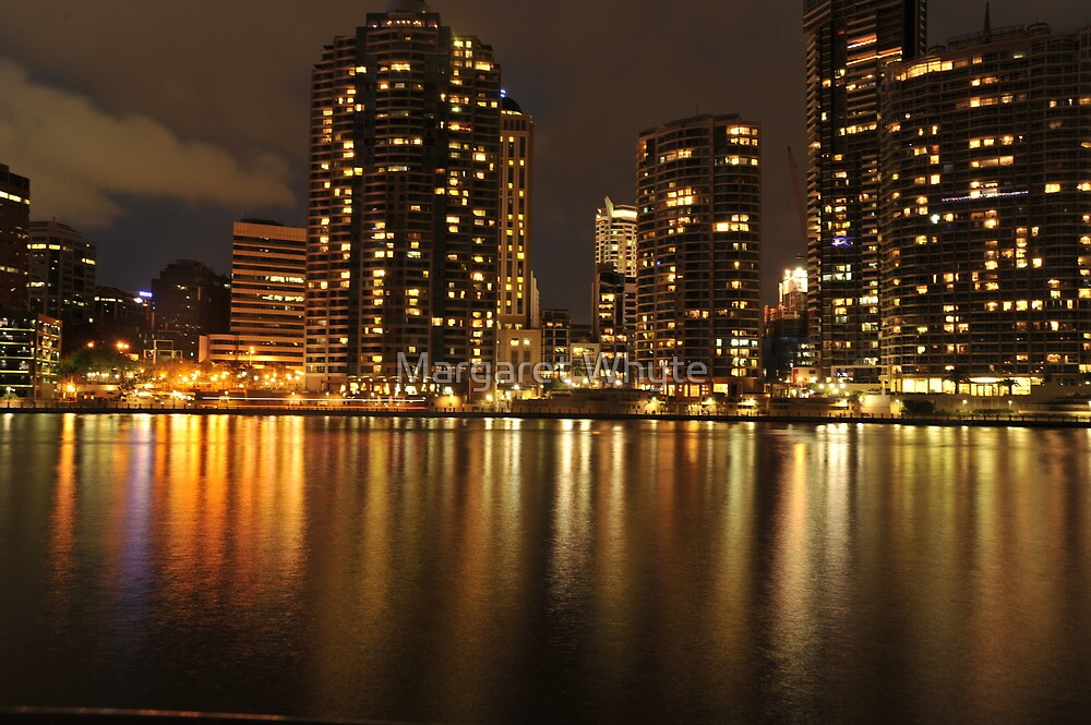 Brisbane River reflections by Margaret Whyte