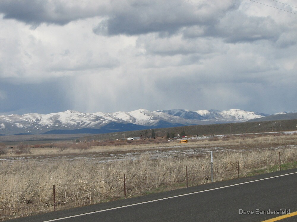 Last Snow Storm over Tool Mountain? by Dave Sandersfeld