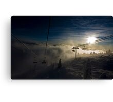 Going Through - Big White Ski Resort Canvas Print
