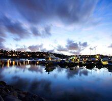 Pier after dark - Spit, Sydney by Adam Smith