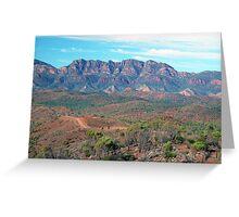 Bunyeroo Valley and Heysen Range , Flinders Ranges, South Australia Greeting Card
