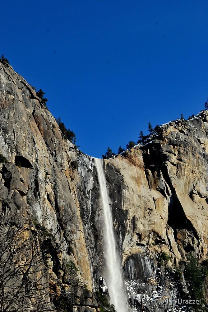 Bridal Veil Falls-Yosemite National Park, Ca by Alan Brazzel