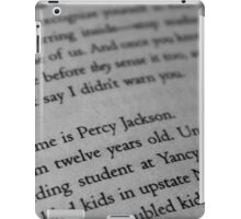 My name is Percy Jackson. iPad Case/Skin