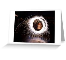 Firework Kid Greeting Card